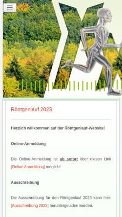 Vorschau der mobilen Webseite www.roentgenlauf.de, Remscheider Röntgenlauf