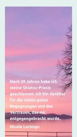 Vorschau der mobilen Webseite www.lorengo.ch, Shiatsu Praxis Lorengo