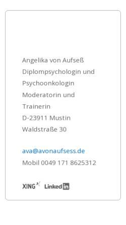 Vorschau der mobilen Webseite www.avonaufsess.de, Angelika von Aufseß - Kommunikation, Kreativität, Innovation