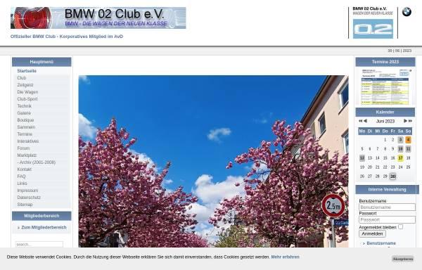 Vorschau von www.bmw-02-club.de, BMW 02 Club Deutschland e.V.