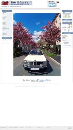 Vorschau der mobilen Webseite www.bmw-02-club.de, BMW 02 Club Deutschland e.V.