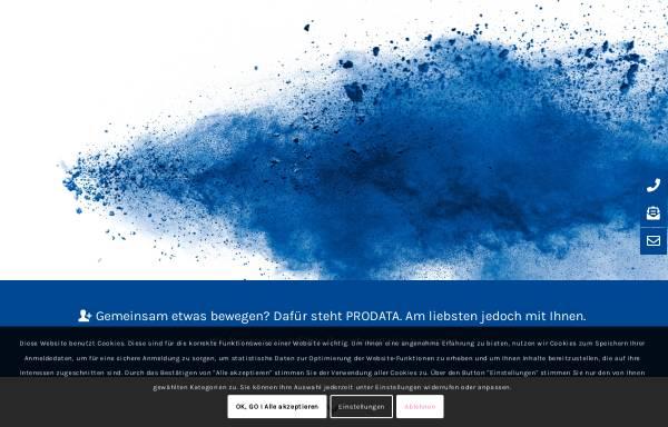 Vorschau von www.prodata.de, Prodata Datenbanken und Informationssysteme GmbH