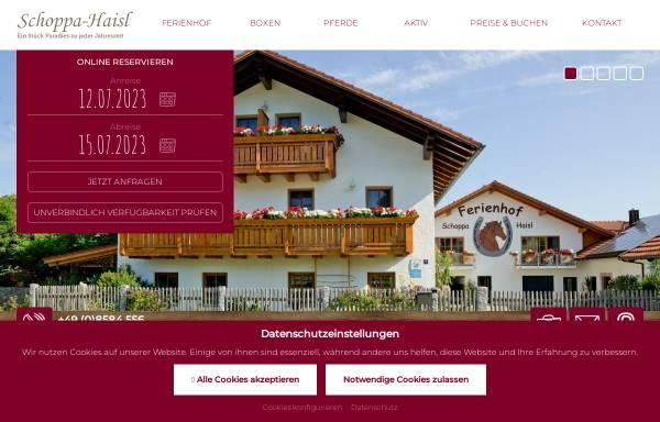 Vorschau von www.urlaub-in-sonnen.de, Ferienhof Schoppa-Haisl