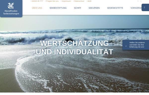 Vorschau von abendfrieden.de, Abendfrieden Seebestattungen GmbH