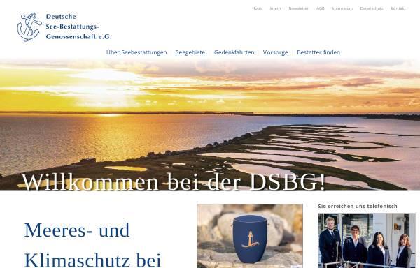 Vorschau von www.dsbg.de, Deutsche See-Bestattungs-Genossenschaft e.G. (DSBG)