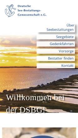 Vorschau der mobilen Webseite www.dsbg.de, Deutsche See-Bestattungs-Genossenschaft e.G. (DSBG)