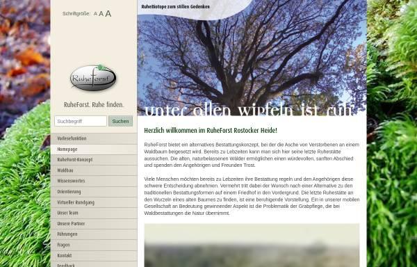 Vorschau von www.rostocker-ruheforst.de, RuheForst Rostocker Heide