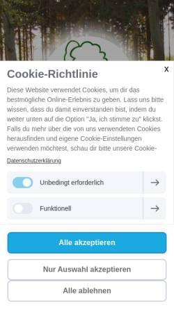 Vorschau der mobilen Webseite www.ruhehain.de, Ruhehain Bönningstedt GmbH