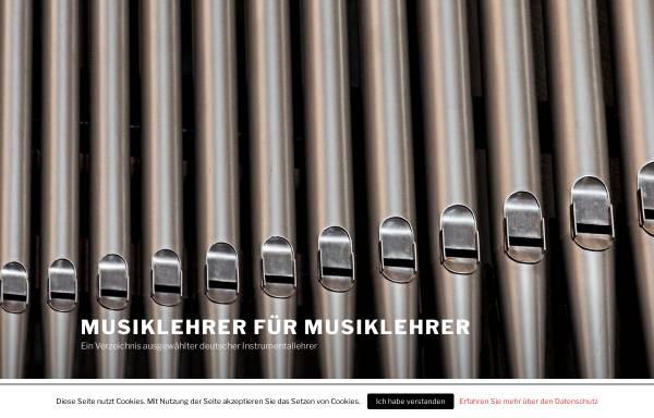 Vorschau von www.musiklehrer-fuer-musiklehrer.de, Deutsches Musiklehrerverzeichnis