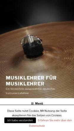 Vorschau der mobilen Webseite www.musiklehrer-fuer-musiklehrer.de, Deutsches Musiklehrerverzeichnis