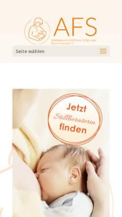 Vorschau der mobilen Webseite www.afs-stillen.de, Arbeitsgemeinschaft Freier Stillgruppen