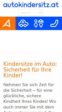 Vorschau der mobilen Webseite www.autokindersitz.at, Autokindersitz
