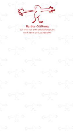 Vorschau der mobilen Webseite barbos-stiftung.de, Barbos-Stiftung