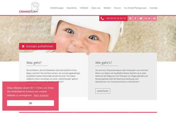Vorschau von www.cranioform.de, Cranioform Helmtherapie