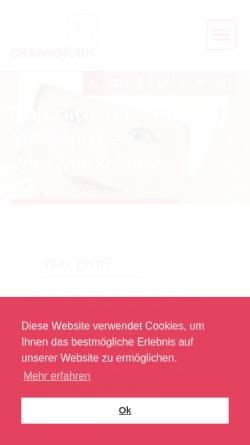 Vorschau der mobilen Webseite www.cranioform.de, Cranioform Helmtherapie