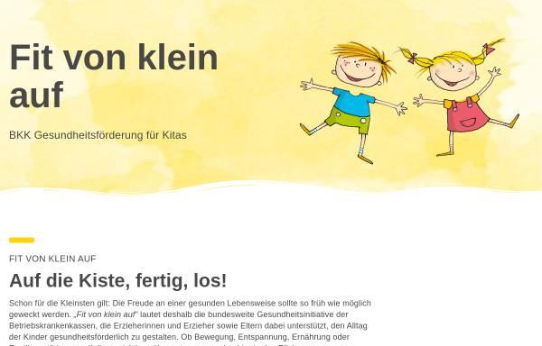 Vorschau von www.fitvonkleinauf.de, Fit von klein auf - BKK Gesundheitsförderung in Kindertageseinrichtungen