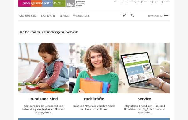 Vorschau von www.kindergesundheit-info.de, Kindergesundheit-Info