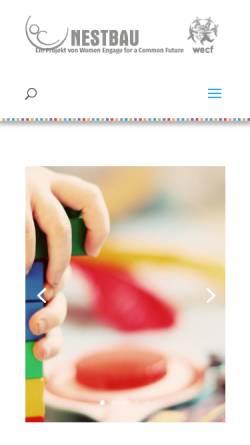 Vorschau der mobilen Webseite nestbau.info, Nestbau - Ein gesundes Umfeld für gesunde Kinder
