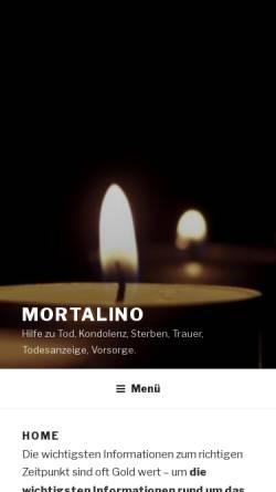 Vorschau der mobilen Webseite www.mortalino.com, Mortalino
