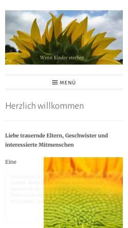 Vorschau der mobilen Webseite www.elterntreffpunkt-girasol.ch, Treffpunkt für trauernde,