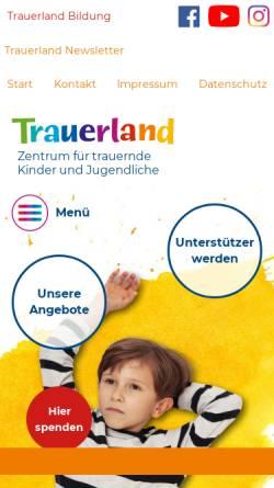 Vorschau der mobilen Webseite www.trauernde-kinder.de, Das Zentrum für trauernde Kinder e.V.