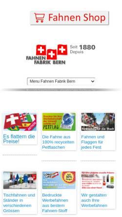 Vorschau der mobilen Webseite www.fahnenfabrik-bern.ch, Fahnen Fabrik Bern