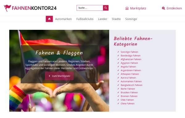 Vorschau von www.fahnenkontor24.de, Fahnen- und Textilkontor - Inh. Ellen von Hartz-Geitel