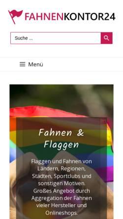 Vorschau der mobilen Webseite www.fahnenkontor24.de, Fahnen- und Textilkontor - Inh. Ellen von Hartz-Geitel