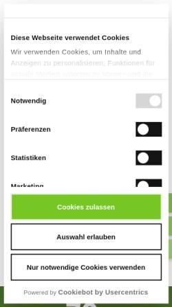 Vorschau der mobilen Webseite www.stickerei-seifert.de, Alfred Seifert & Söhne GmbH