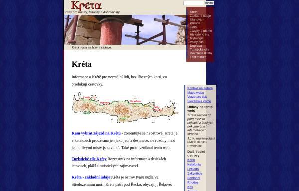 Vorschau von kreta.rovnou.cz, Kreta - Tipps für Touristen, Faulenzer und Abenteurer
