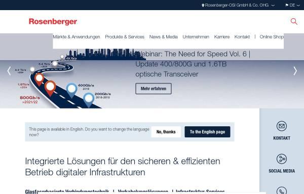 Vorschau von www.osi-fiber.de, OSI Kommunikations- und Systemtechnik GmbH & Co. KG