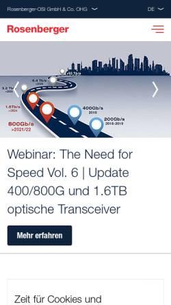 Vorschau der mobilen Webseite www.osi-fiber.de, OSI Kommunikations- und Systemtechnik GmbH & Co. KG