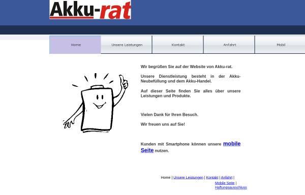 Vorschau von www.akku-rat-poessneck.de, Akku-rat, Inh. Edgar Meisgeier
