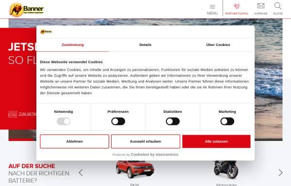 Vorschau von www.bannerbatterien.com, Banner GmbH