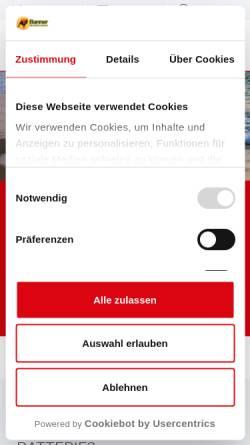 Vorschau der mobilen Webseite www.bannerbatterien.com, Banner GmbH