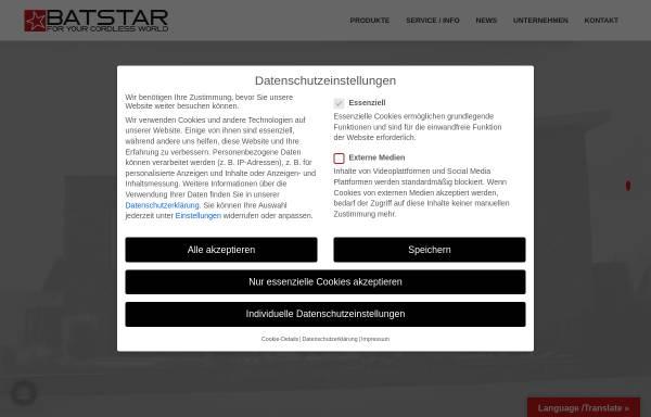 Vorschau von www.batstar.de, Batstar GmbH