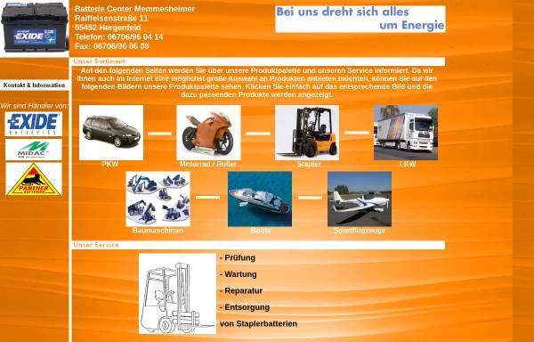 Vorschau von www.batterieverkauf.com, Batterie Center Memmesheimer, Inh. Alois Memmesheimer