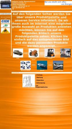 Vorschau der mobilen Webseite www.batterieverkauf.com, Batterie Center Memmesheimer, Inh. Alois Memmesheimer