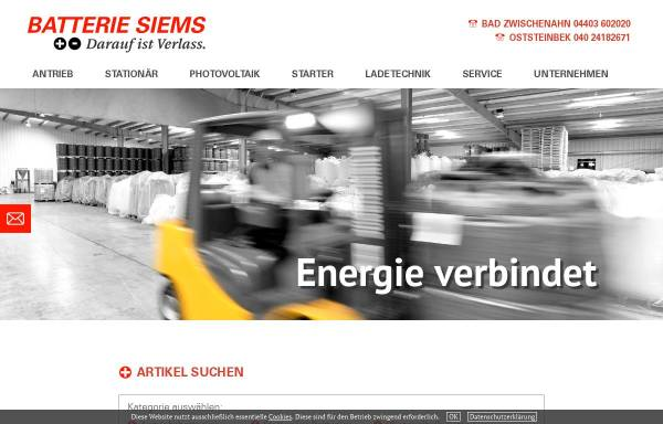 Vorschau von www.batterie-siems.de, Batterie Siems GmbH & Co. KG