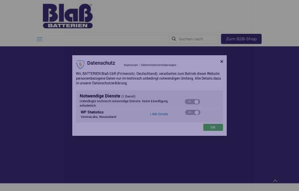Vorschau von www.batterien-blass.de, Batterien Blaß, Inh. Christian Blaß