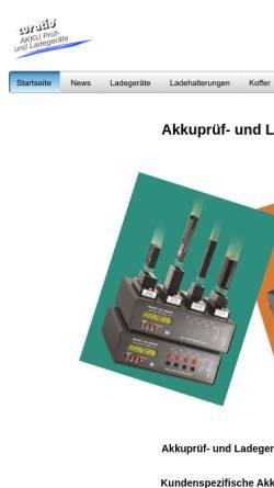 Vorschau der mobilen Webseite www.akkuladegeraete.de, BDS Bauer Daten-Systeme GmbH