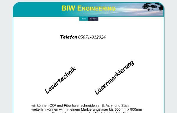 Vorschau von www.biw-engineering.de, BIW-Engineering, Inh. Bernd Fürschbach