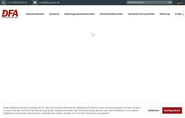 Vorschau von www.dfa-gmbh.de, Dirk Franke Akkumulatoren GmbH