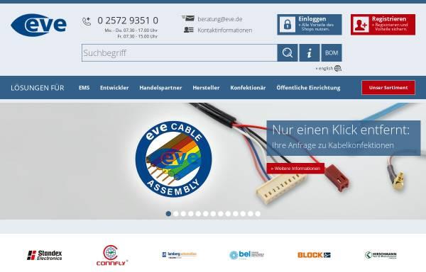 Vorschau von www.eve.de, Elektronikvertrieb Emsdetten GmbH
