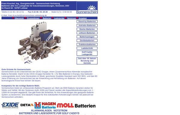 Vorschau von www.sonnenschein-vertretung.de, Franz Kuschel