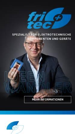 Vorschau der mobilen Webseite www.fritec.de, Fritec - Friedrich & Hitschfel GmbH GmbH