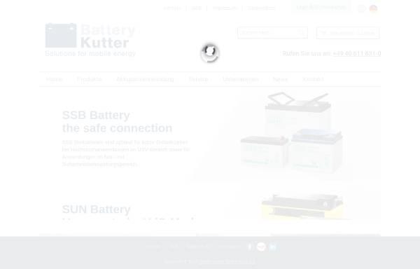 Vorschau von www.battery-kutter.de, Kutter Handelsgesellschaft mbH & Co. KG