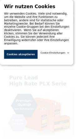 Vorschau der mobilen Webseite www.battery-kutter.de, Kutter Handelsgesellschaft mbH & Co. KG