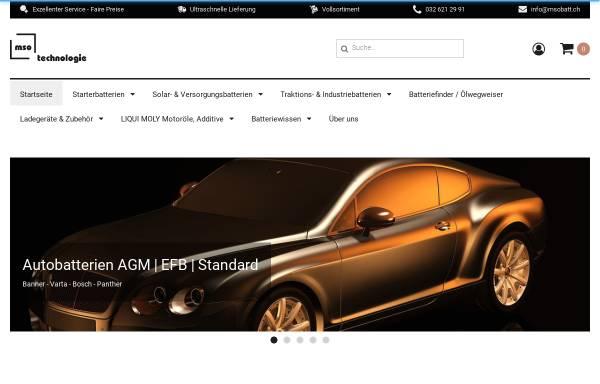 Vorschau von www.msobatt.ch, Mso Batterietechnik, Inh. Markus Studer