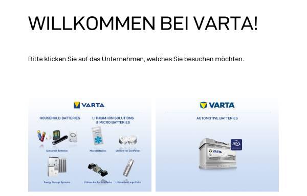 Vorschau von www.varta.de, Varta AG